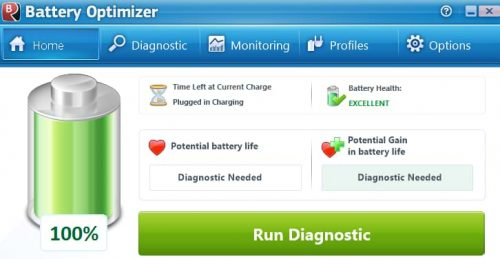 Battery Optimizer Utility Screen ShotBattery Optimizer Utility Screen Shot